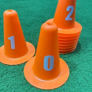 Set de 10 conos numerados
